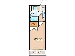 エレガンスコート瀬田[2階]の間取り