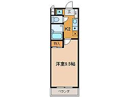 プラティア瀬田[1階]の間取り