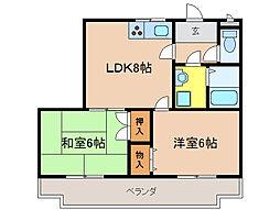 カーム瀬田[2階]の間取り