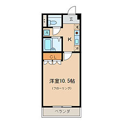 グラスライト[1階]の間取り