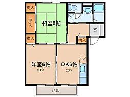 ルーラルシティーIIA・B[2階]の間取り