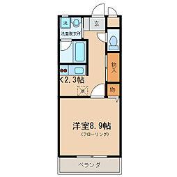 アミティエ大江I[1階]の間取り
