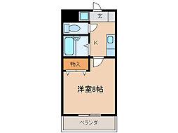 パレ南笠佐わらび[4階]の間取り
