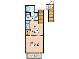 エスポアールコート[2階]の間取り