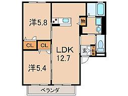 Quartett[2階]の間取り