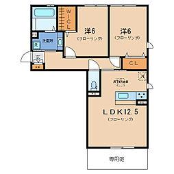リート623EAST[1階]の間取り
