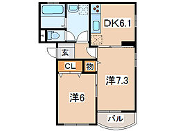 comfort T.M.[3階]の間取り