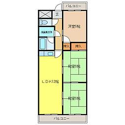 マンション東柴第一[2階]の間取り