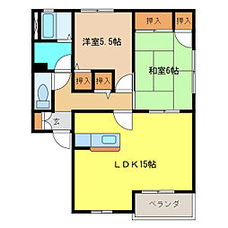 パールマンションI・II号館[1階]の間取り