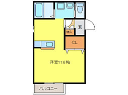 Y・Sクリスタル[2階]の間取り