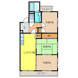 ロワイヤルA[4階]の間取り