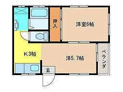 水野ビル(岩倉)[4階]の間取り