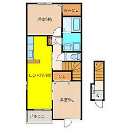 カーサ サンモール[1階]の間取り