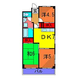 泉コープ[7階]の間取り