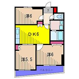 ロータスガーデン[6階]の間取り
