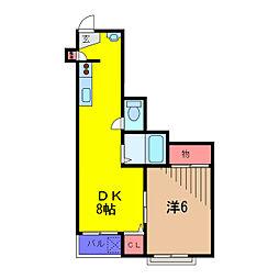 長谷ビル[2階]の間取り