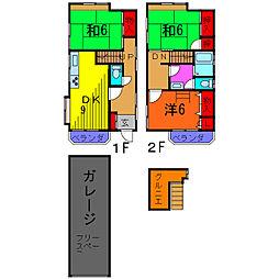 [一戸建] 東京都葛飾区亀有2丁目 の賃貸【/】の間取り