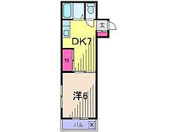 東京都葛飾区東金町1丁目の賃貸マンションの間取り