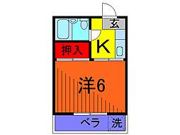 第二フジタコーポ[1階]の間取り