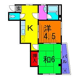 VILLA八潮[2階]の間取り