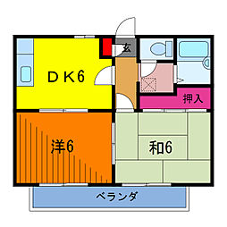 東京都葛飾区東金町5丁目の賃貸アパートの間取り