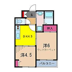 ムーンハイツマリコ9[3階]の間取り