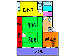 東京都葛飾区金町3丁目の賃貸マンションの間取り