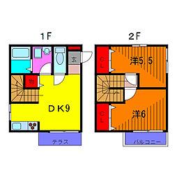 [テラスハウス] 東京都葛飾区南水元4丁目 の賃貸【東京都 / 葛飾区】の間取り