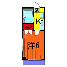サクセス東綾瀬[1階]の間取り
