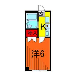 サクセス東綾瀬[2階]の間取り
