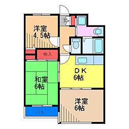 ムーンハイツマリコ6[5階]の間取り