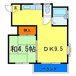 富士見コーポ[3階]の間取り
