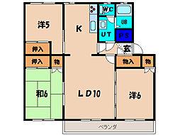 北海道函館市吉川町の賃貸マンションの間取り