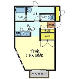 北海道函館市宮前町の賃貸アパートの間取り