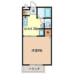 イーストコート[2階]の間取り