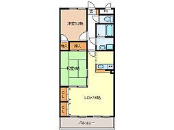 ラ・リューシュ[2階]の間取り