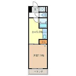 燦新町[6階]の間取り