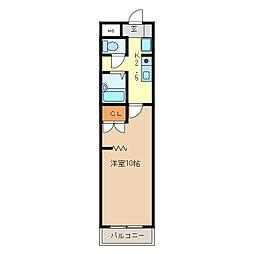 KURIMAマンション[104号室]の間取り