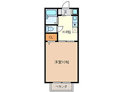 サンハイツ藤方[1階]の間取り