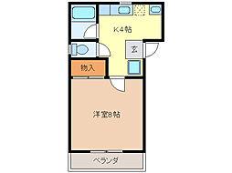 コーポ花ノ木[1階]の間取り