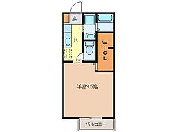ピュアハイツII[1階]の間取り