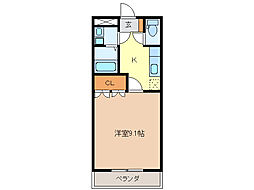 ピュアコート・アイ[2階]の間取り