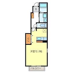 サイスフィールドII[1階]の間取り