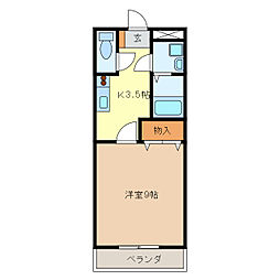 サンライズガル[2階]の間取り