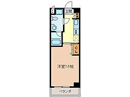 エイムオーエス島崎町マンション[1階]の間取り