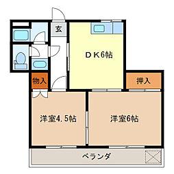 K・Yレジデンス[3階]の間取り