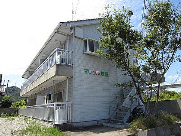 徳島県鳴門市鳴門町高島字南の賃貸アパートの外観