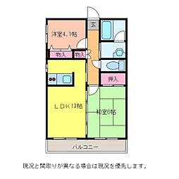 ガーデンヴィラ坂井[2階]の間取り
