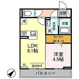 オッツファルコン弐[2階]の間取り