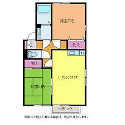 ファミールヴィラ高井東[2階]の間取り